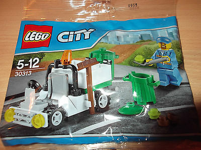 LEGO 30313 CITY REFUSE GARBAGE TRUCK + BINMAN MINIFIGURE New/Sealed