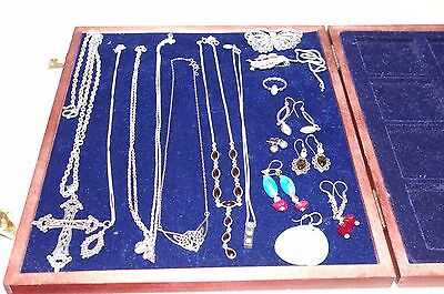 Sterling Silver 925 Necklaces Brooches Earrings Ring Joblot 2