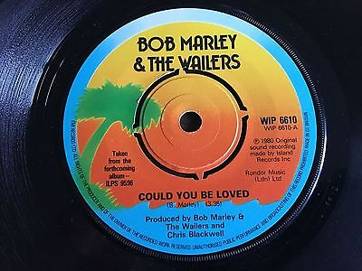"""BOB MARLEY & THE WAILERS Could You Be Loved UK 7"""" 1980 VG+ vinyl 45 WIP 6610"""
