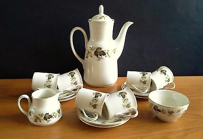 A ROYAL DOULTON Coffee Set in the Lovely LARCHMONT Pattern