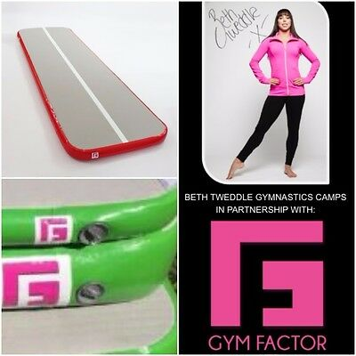 Ginnastica 3M By 1M By 10Cm Verde Gymtrax Air Traccia Del Piano Gym Factor