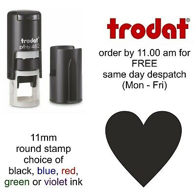 Heart rubber Stamp Self Inking shop Loyalty Card reward beautician retail school