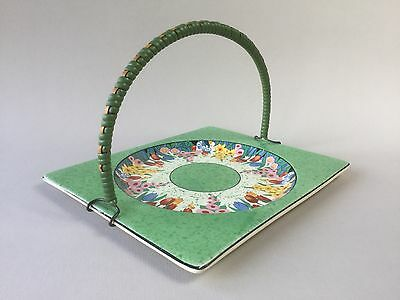 Royal Staffordshire Biarritz Cake Plate with Wicker Handle