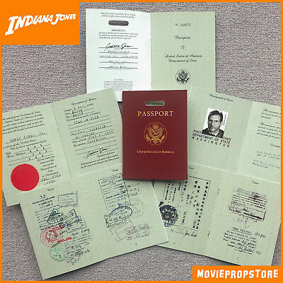 Indiana Jones Passport Prop - high quality Indy Passport - FREE SHIPPING