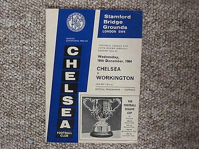 Chelsea v Workington League Cup 5th Round Replay 1964/65 The rare one in very GC