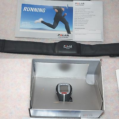 Polar Unisex RS200 Digital Running Heart Rate Watch Blk boxed w/ Manual & Strap