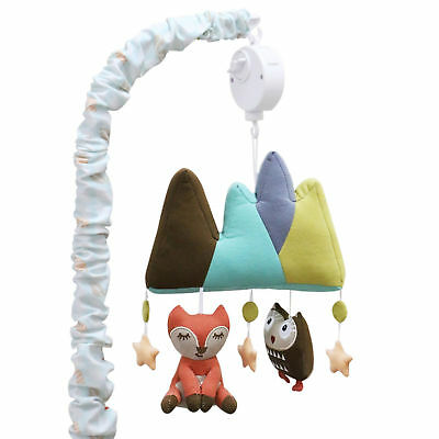 Clever Fox Musical Mobile Stars Owl Woodland by Little Haven