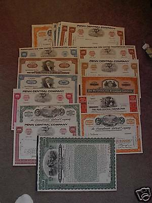 LOT OF 50+  Assorted VINTAGE STOCK CERTIFICATES RAILWAY
