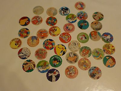 Tazos collectable 'Looney Tunes' characters.