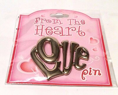 Silvertone LOVE Pin New Great for your Sweetheart or yourself Jewelry