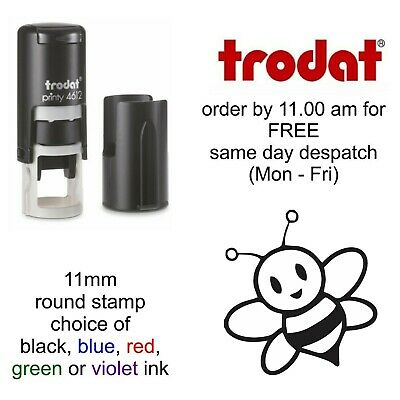 Bee Loyalty Card Rubber Stamp Self Inking cafe bar shop restaurant honey food