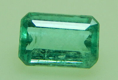0.74 Ct ULTRA CLEAN! NATURAL COLOMBIAN EMERALD! 6.43x4.33x3.33mm/614/FR