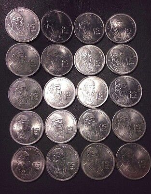MEXICO COIN LOT - Morelos Peso Coins - Lot of 20 - FREE SHIPPING