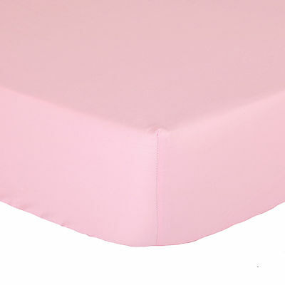 Pink Fitted Crib Sheet - Solid Color Toddler 100% Cotton Sateen
