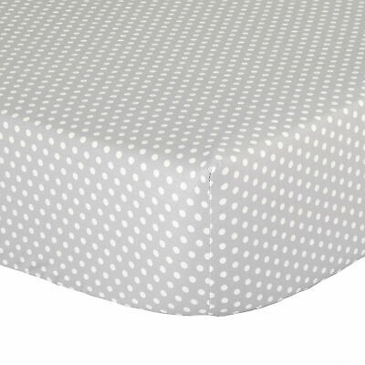 Grey Confetti Dot Print 100% Cotton Toddler Crib Sheet by The Peanut Shell