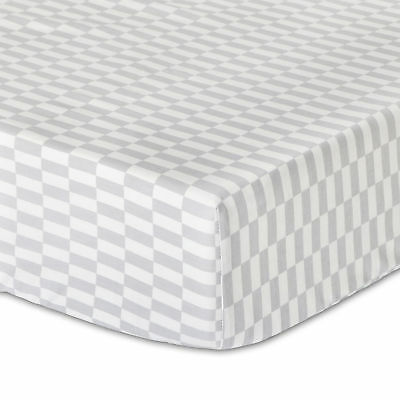 Mosaic Fitted Crib Sheet Toddler Geometric Gray White Grey by The Peanut Shell