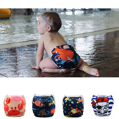 Reusable Adjustable Swim Nappy Pant Diaper Baby Toddler Boy Girl Swimwear