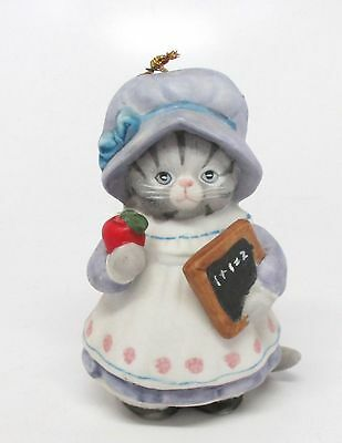 Schmid Kitty Cucumber - One Plus One Kitty Ornament - 1988