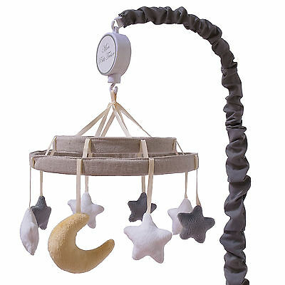 Nuit Musical Mobile Crib Music Toy Stars Moon Gray White by Petit Tresor