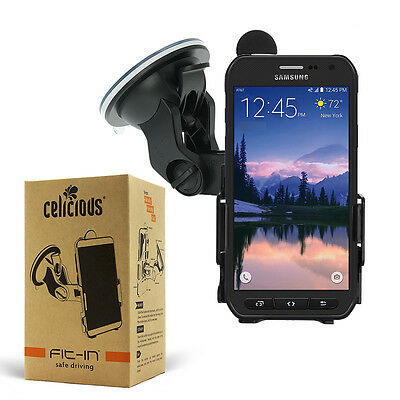 Celicious Dedicated Fit-In Car Suction Mount Holder for Samsung Galaxy S6 Active