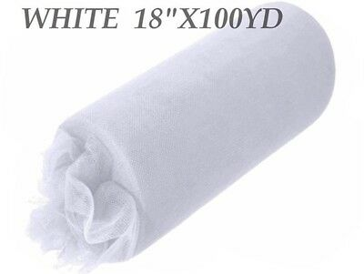18inch x 100yd Tulle Roll - White (22)