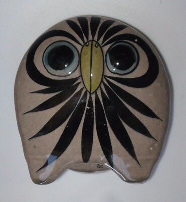 Aztec Owl ~ Pottery Statue Art ~ [CAT 70 NHLA MEXI 316]  Stamped ~ VERY NICE