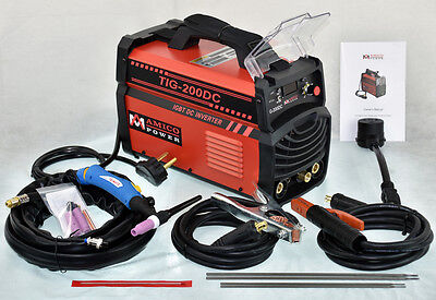 200 Amp TIG Torch Stick ARC DC Inverter Welder 110/230V Dual Voltage Welding New