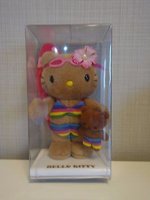 Rare Sanrio Hello Kitty Bikini Plush Stuffed Doll Surfing Tanning Bear Japan F/S