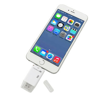 Micro-SD TF Card Reader USB i-FlashDrive OTG Adapter For iPhone 7 6s Plus