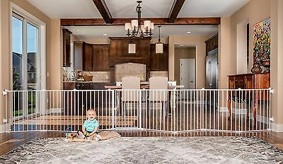 Regalo 192-Inch Super Wide Gate and Play Yard White