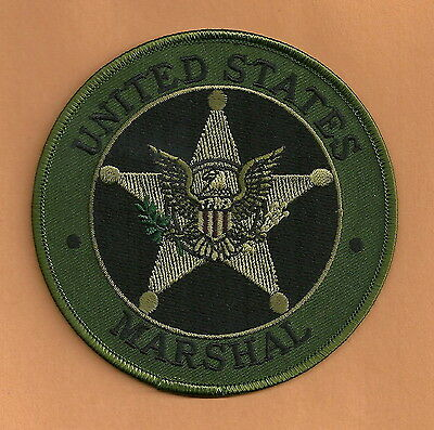 "United States Marshal Police 4"" Shoulder Patch Green"