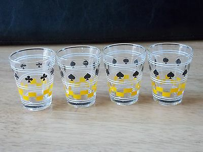 Shot Glasses Made In France Card Suits