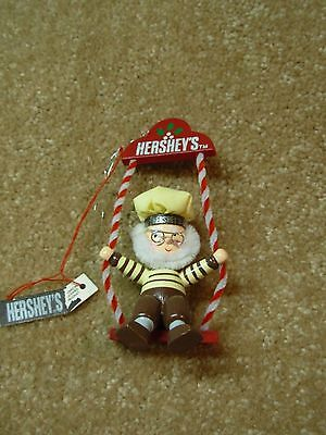 """Vintage 1994 Hershey's Collector Series """"Elf On Swing"""" Christmas Ornament NWT"""