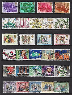 GREAT BRITAIN, UK - mixed Christmas collection No.8, 6 sets, mint & used
