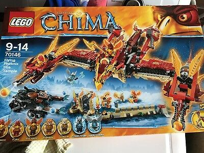 LEGO 70146 Legends of Chima Flying Phoenix Fire Temple. Brand New And Sealed