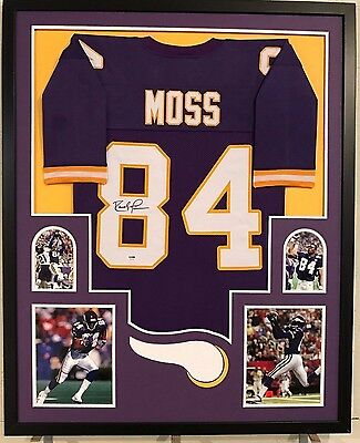 lowest price d771b 2c4ae FRAMED RANDY MOSS Autographed Signed Minnesota Vikings Jersey Psa Coa