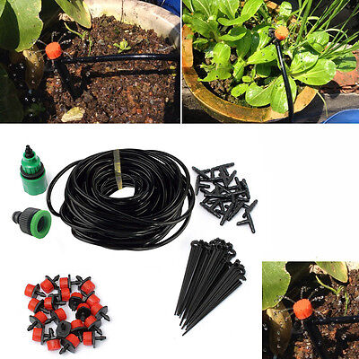 25M Automatic Irrigation Watering System Micro Garden Plant Greenhouse Drip Kit