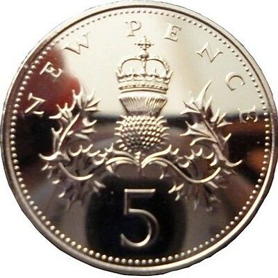 5 p ENGLISH DECIMAL FIVE PENCE 5p COINS CHOICE OF DATE 1971-2015
