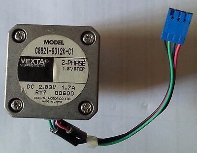 VEXTA C8621-9012K-C1 2 PHASE 1.7AMP DC2.83v 1.8/Step with Gear