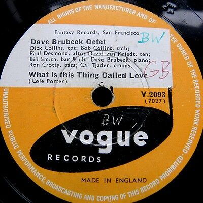 0794/DAVE BRUBECK OCTET-September in the rain-What is this thing call-Schellack