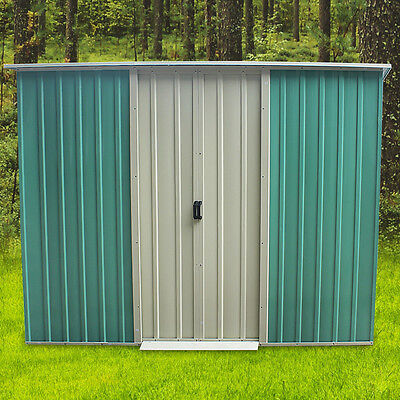 Metal Strong Steel Garden Shed Pent Tool Storage Shed Summer House 4*8FT Outdoor