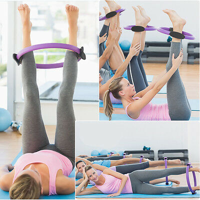 Dual Grip Pilates Ring Magic Circle Muscles Body Exercise Yoga Fitness Product