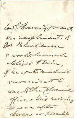 1st Baron Howard of Glossop - original 1845? letter from Colonial Office