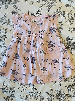 Baby Girl Pink Floral Dress 3-6 Months