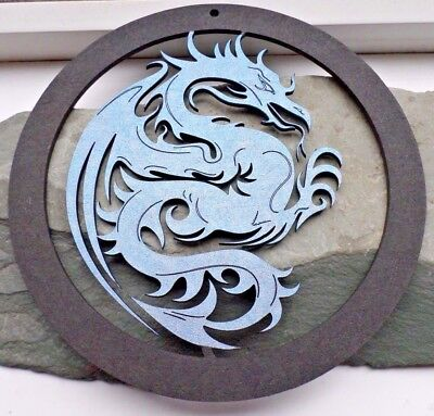 BLUE DRAGON Wall Hanging Game Of Thrones Mother of Dragons Fire Energy Pagan