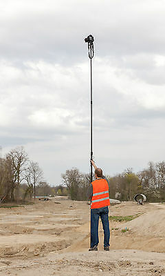 10-metre Telescopic Camera Pole Mast for Aerial Photography & Rotating Footplate