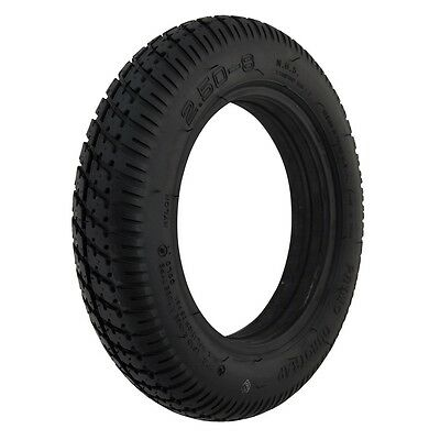 1 Pair of Black Pneumatic Mobility Scooter Tyre 250 x 8 vat exempt