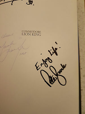 Peter Brock SIGNED Book - Commodore Lion Kings - 4 Signatures