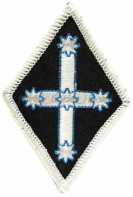 Embroidered Iron Or Sew On Cloth Biker Patch ~ Eureka Diamond (White) ~