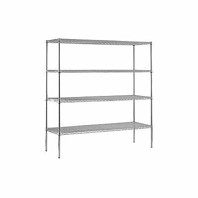 Sandusky Heavy Duty 4-Level NSF Certified Wire Shelving - Chrome NEW NEW NEW NEW